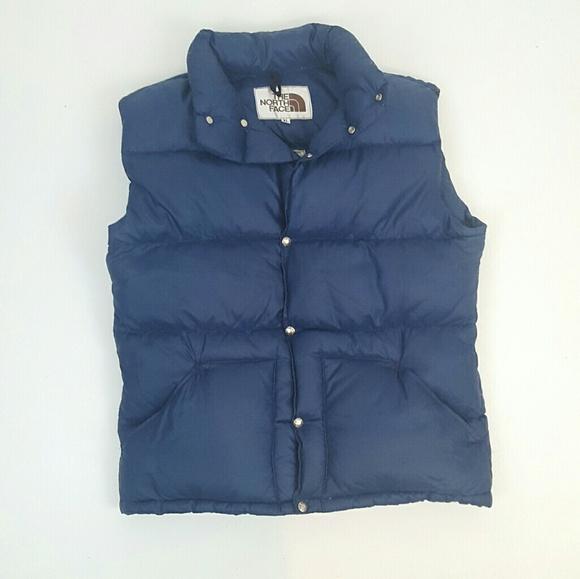 b45a56423 Navy blue vintage North Face down vest XL men's